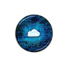Circuit Computer Chip Cloud Security Hat Clip Ball Marker (4 Pack)