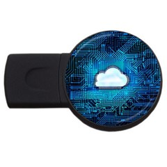 Circuit Computer Chip Cloud Security Usb Flash Drive Round (4 Gb)