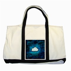 Circuit Computer Chip Cloud Security Two Tone Tote Bag