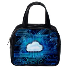 Circuit Computer Chip Cloud Security Classic Handbags (One Side)