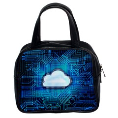 Circuit Computer Chip Cloud Security Classic Handbags (2 Sides)
