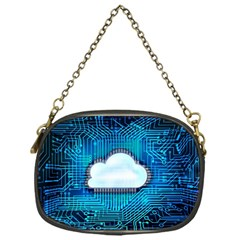 Circuit Computer Chip Cloud Security Chain Purses (one Side)