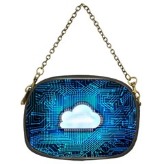 Circuit Computer Chip Cloud Security Chain Purses (two Sides)