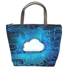 Circuit Computer Chip Cloud Security Bucket Bags
