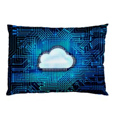Circuit Computer Chip Cloud Security Pillow Case