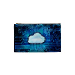 Circuit Computer Chip Cloud Security Cosmetic Bag (Small)