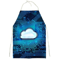 Circuit Computer Chip Cloud Security Full Print Aprons