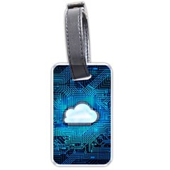 Circuit Computer Chip Cloud Security Luggage Tags (one Side)
