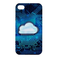 Circuit Computer Chip Cloud Security Apple Iphone 4/4s Premium Hardshell Case