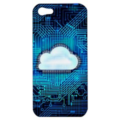 Circuit Computer Chip Cloud Security Apple Iphone 5 Hardshell Case