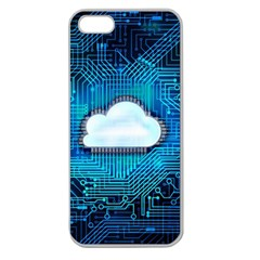 Circuit Computer Chip Cloud Security Apple Seamless Iphone 5 Case (clear)