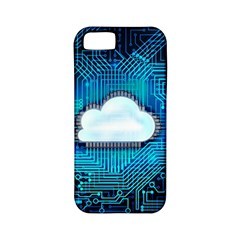 Circuit Computer Chip Cloud Security Apple Iphone 5 Classic Hardshell Case (pc+silicone)