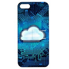 Circuit Computer Chip Cloud Security Apple Iphone 5 Hardshell Case With Stand