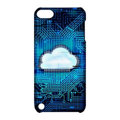 Circuit Computer Chip Cloud Security Apple Ipod Touch 5 Hardshell Case With Stand