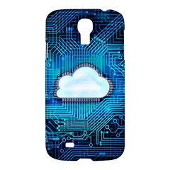 Circuit Computer Chip Cloud Security Samsung Galaxy S4 I9500/i9505 Hardshell Case