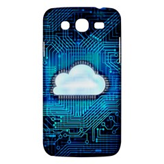 Circuit Computer Chip Cloud Security Samsung Galaxy Mega 5.8 I9152 Hardshell Case