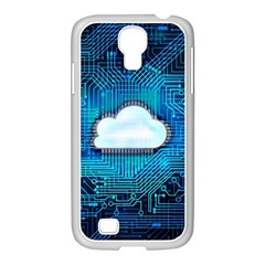 Circuit Computer Chip Cloud Security Samsung Galaxy S4 I9500/ I9505 Case (white)