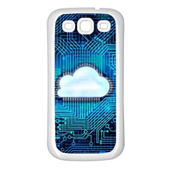 Circuit Computer Chip Cloud Security Samsung Galaxy S3 Back Case (white)