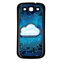 Circuit Computer Chip Cloud Security Samsung Galaxy S3 Back Case (black)