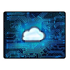 Circuit Computer Chip Cloud Security Double Sided Fleece Blanket (small)