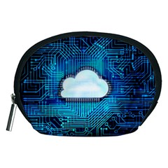 Circuit Computer Chip Cloud Security Accessory Pouches (medium)