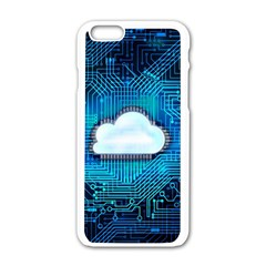 Circuit Computer Chip Cloud Security Apple Iphone 6/6s White Enamel Case