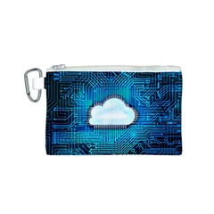 Circuit Computer Chip Cloud Security Canvas Cosmetic Bag (s)