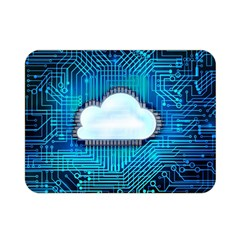 Circuit Computer Chip Cloud Security Double Sided Flano Blanket (mini)