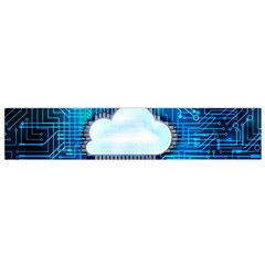Circuit Computer Chip Cloud Security Flano Scarf (Small)