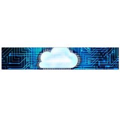 Circuit Computer Chip Cloud Security Flano Scarf (large)