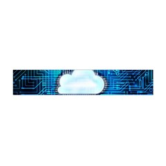 Circuit Computer Chip Cloud Security Flano Scarf (mini)