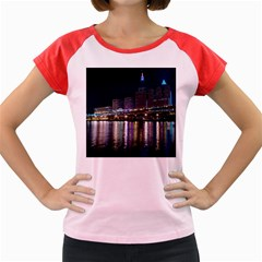 Cleveland Building City By Night Women s Cap Sleeve T Shirt