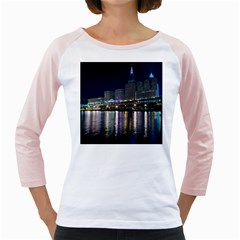 Cleveland Building City By Night Girly Raglans