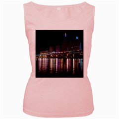 Cleveland Building City By Night Women s Pink Tank Top