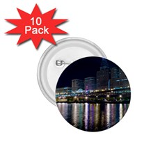 Cleveland Building City By Night 1 75  Buttons (10 Pack)