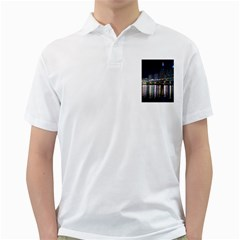 Cleveland Building City By Night Golf Shirts