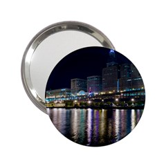 Cleveland Building City By Night 2 25  Handbag Mirrors