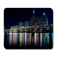 Cleveland Building City By Night Large Mousepads