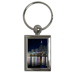 Cleveland Building City By Night Key Chains (rectangle)