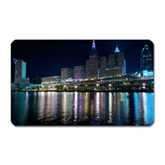 Cleveland Building City By Night Magnet (rectangular)