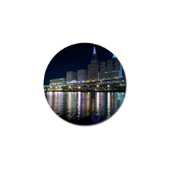 Cleveland Building City By Night Golf Ball Marker