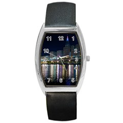 Cleveland Building City By Night Barrel Style Metal Watch