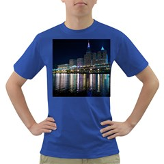 Cleveland Building City By Night Dark T Shirt