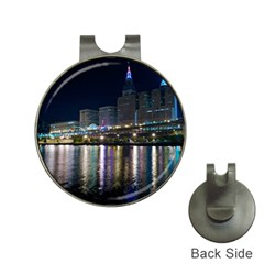 Cleveland Building City By Night Hat Clips With Golf Markers