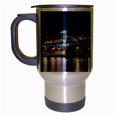Cleveland Building City By Night Travel Mug (silver Gray)