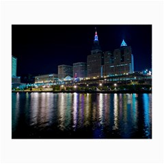 Cleveland Building City By Night Small Glasses Cloth
