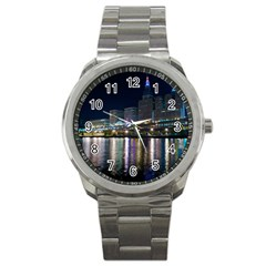 Cleveland Building City By Night Sport Metal Watch