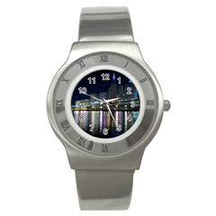 Cleveland Building City By Night Stainless Steel Watch