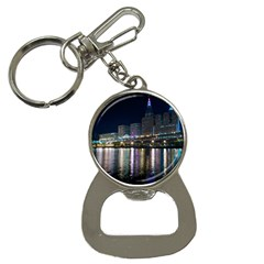 Cleveland Building City By Night Button Necklaces
