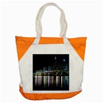 Cleveland Building City By Night Accent Tote Bag Front